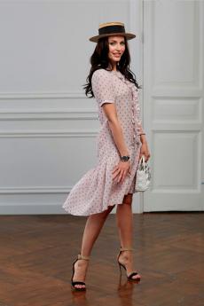 Свободное пудовое платье Look Russian