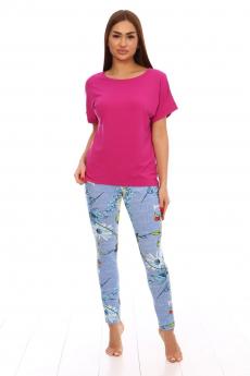 Комплект: лосины и розовая футболка Вилана